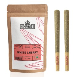 Hempower Pre-Rolled Stick White Cherry 23% CBG 2pcs