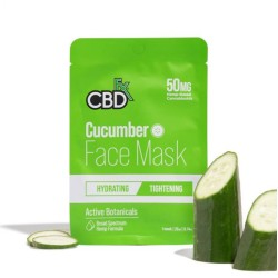 CBDfx Hemp Face Mask Cucumber (hydrating/tightening) 50mg / 1PC
