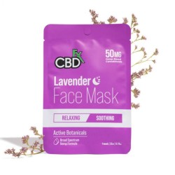 CBDfx Hemp Face Mask Lavender (relaxing/soothing) 50mg / 1PC