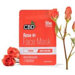 CBDfx Hemp Face Mask Rose (toning/moisturizing) 50mg / 1PC